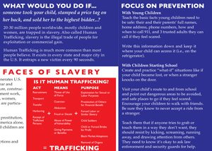 preview of parent pamphlet about human trafficking